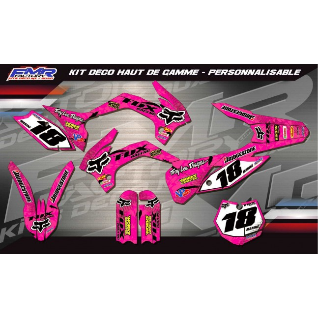 KIT DÉCO Perso FOX Racing rose