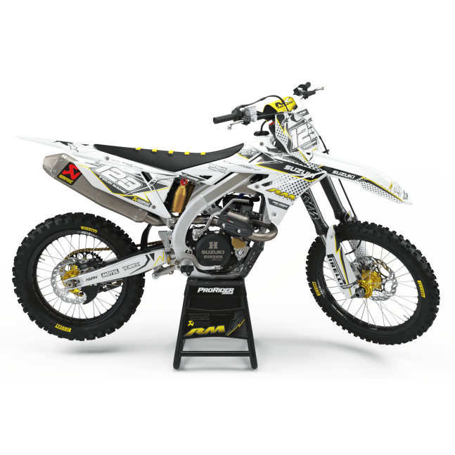 KIT DECO SUZUKI VERTEX BLANC