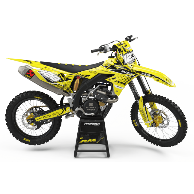 KIT DECO SUZUKI VERTEX JAUNE