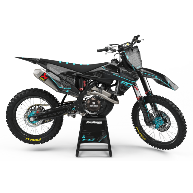 KIT DECO HUSQVARNA VERTEX CYAN