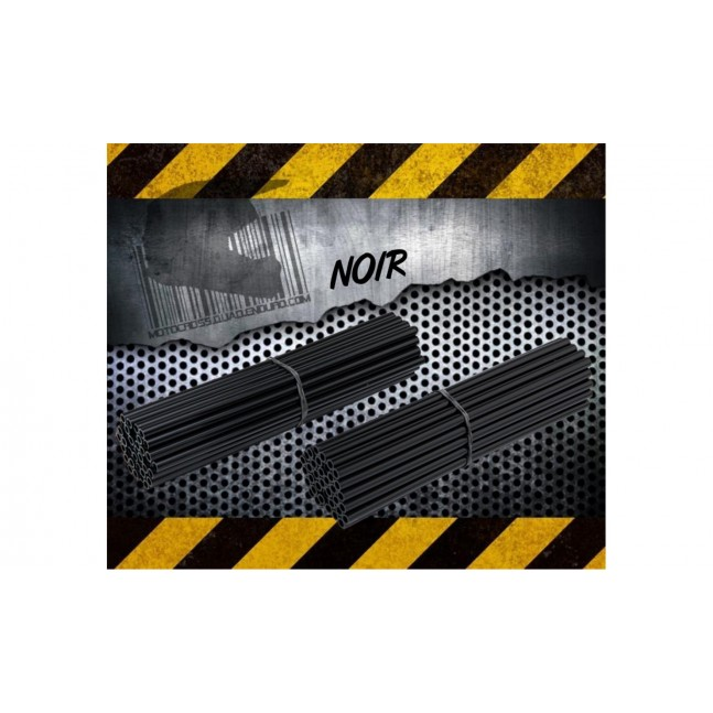 Couvres Rayons Moto cross Noir