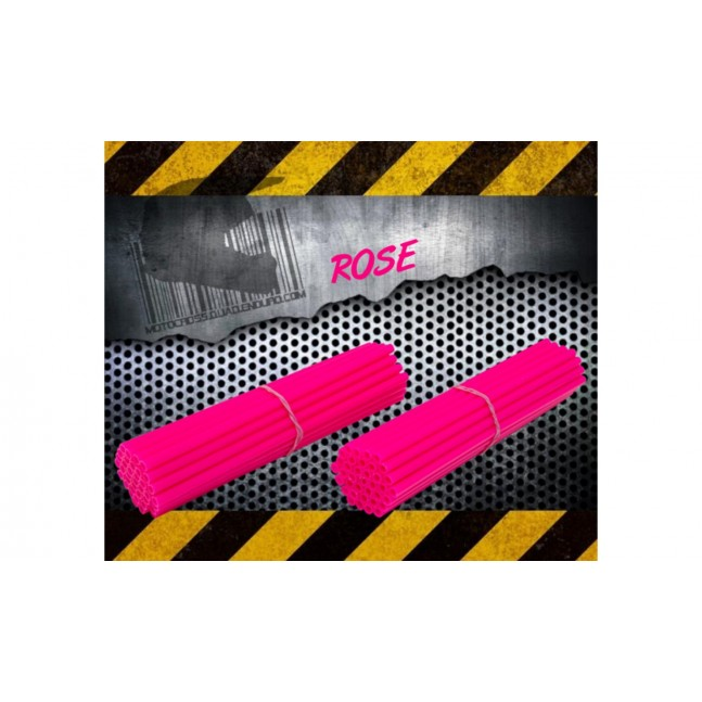 Couvres Rayons Moto cross Rose