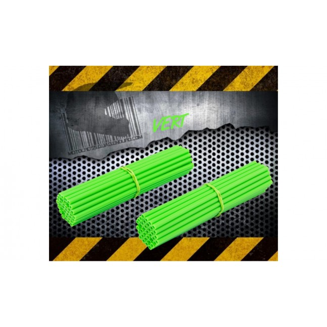 Couvres Rayons Moto cross Vert