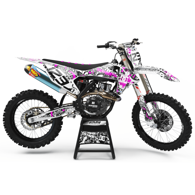 KIT DECO MOTOCROSS DC B&W rose