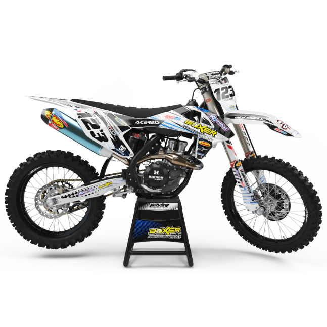 KIT DECO MOTOCROSS BOXER blanc