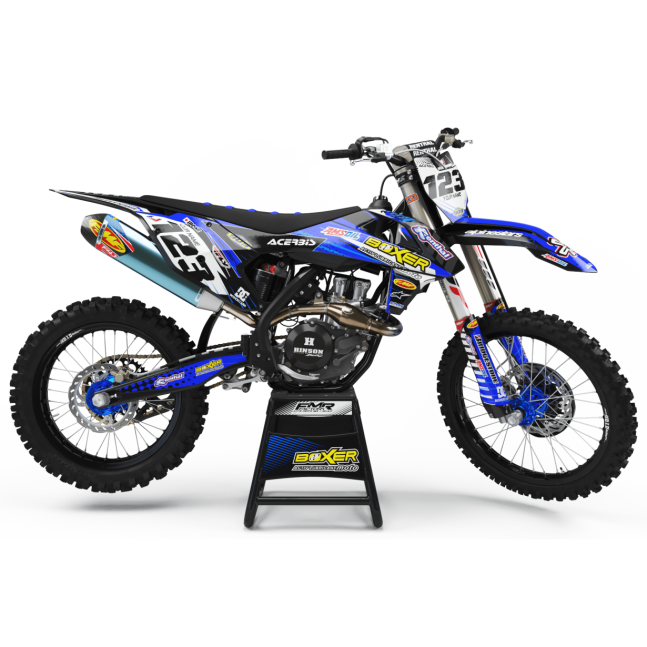 KIT DECO MOTOCROSS BOXER bleu