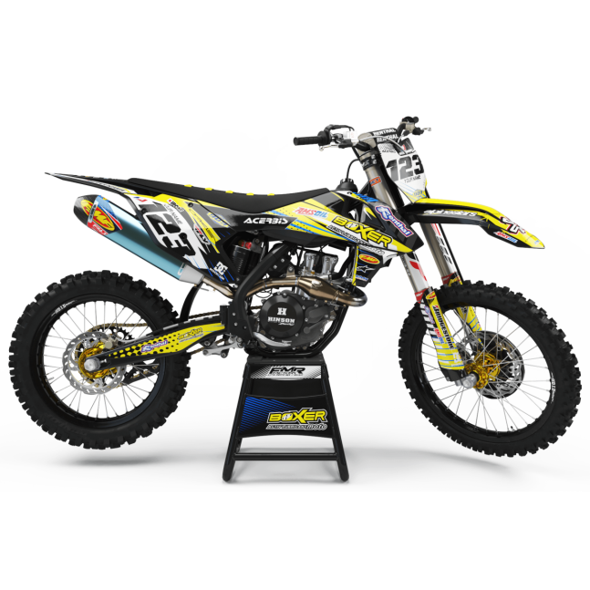 KIT DECO MOTOCROSS BOXER jaune