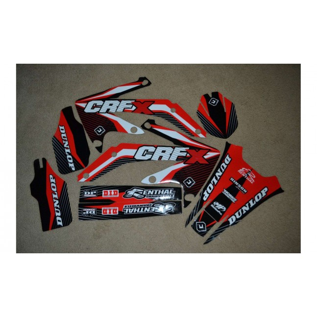 450 CRF X 04 à 16 kit déco FLU
