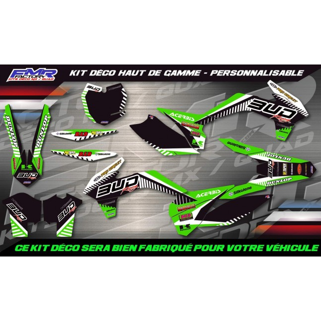 KIT DÉCO Perso KFX BUD RACING